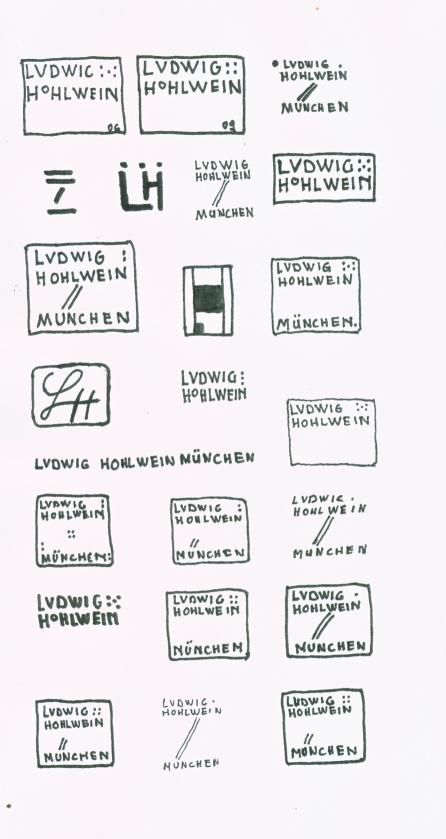 Hohlwein Zeichen Signatur