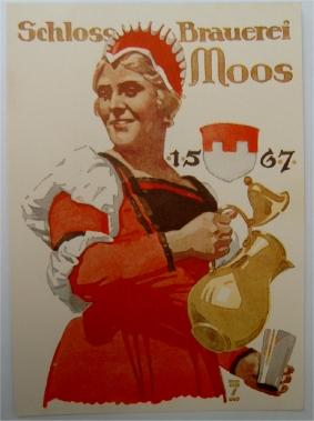 Werbekarte für Bier von Hohlwein