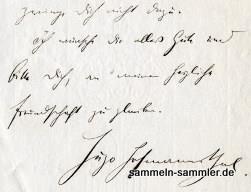 Autographen Hugo von Hofmannsthal