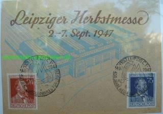 Leipziger Herbstmesse 1947. DDR Briefmarken sammeln