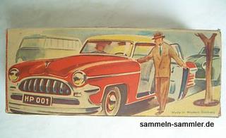Das HPZ-Auto wurde in diesem schönen bunten Faltkarton verkauft.