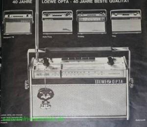 Loewe Opta Reklame