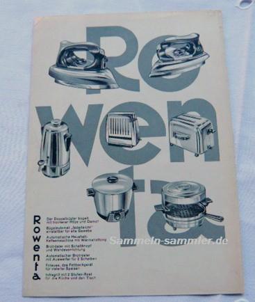 Rowenta Reklame 60er Jahre