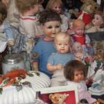 Puppen auf dem Markt
