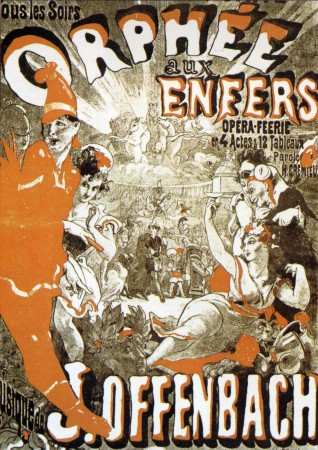 Werbeplakat Orpheus in der Unterwelt von Jaques Offenbach