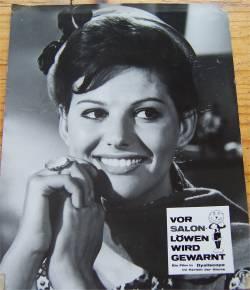 Aushangfoto mit Claudia Cardinale