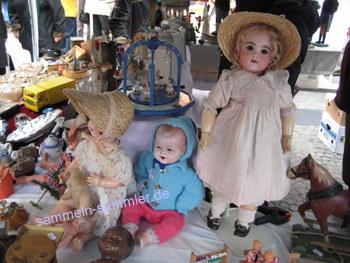 Sammeln in der Früh, Flohmarkt am Morgen