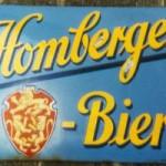 Altes Emailschild der Gesellschaftsbrauerei Homberg