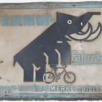 Altes Emailleschild der Firma Mammutwerke