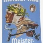 Emailleschilder sammeln, altes Emailleschild von Meister Rad