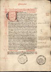 Inkunabel aus der Zeit um 1500