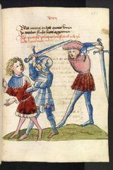 Beispiel für alte Bücher: Bilderhandschrift aus dem Mittelalter