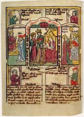 Ein schönes Blockbuch aus dem Mittelalter