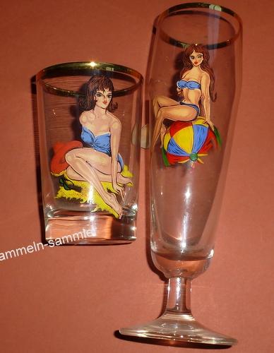 Erotische Pin up-Gläser