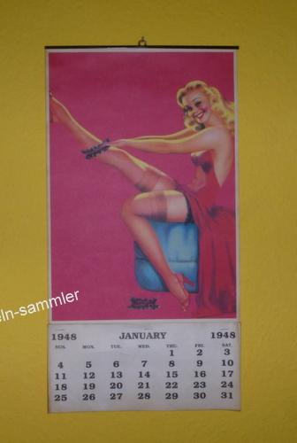 Bekanntes Beispiel für Pin ups, der Pin Up-Kalender