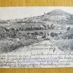 Ansichtskarte mit Stadtansicht um 1930