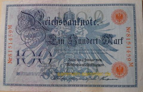 Alte Banknoten: Einhundert Mark