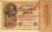 Alte Banknoten: Eine Milliarde Mark