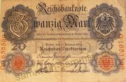 Banknoten: Reichsbanknote Zwanzig Mark