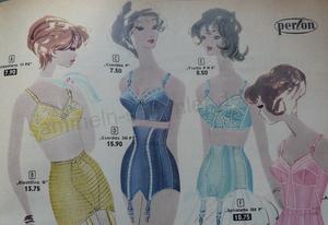 Die Mode der 50er Jahre, hier Büstenhalter