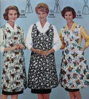 Haushaltsschürzen, alte Schürzen, Mode der 50er und 60er Jahre