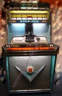 Musikbox Jukebox von Rock-Ola aus den 50er Jahren