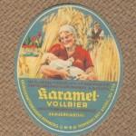 Gesellschaftsbrauerei Homberg Bieretikett Karamel-Vollbier