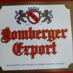 Gesellschaftsbrauerei Bieretikett Homberger Export