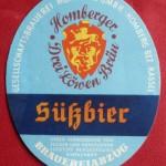 Gesellschaftsbrauerei Homberg Bieretikett Süßbier