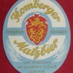 Gesellschaftsbrauerei Homberg Bieretikett Malzbier