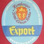 Gesellschaftsbrauerei Homberg altes Etikett Export