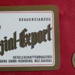 Gesellschaftsbrauerei Homberg mit dem Bieretikett Spezial-Export