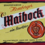 Gesellschaftsbrauerei Homberg mit dem Bieretikett des Maibock