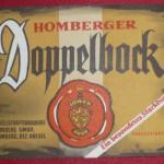 Gesellschaftsbrauerei Homberg mit Bieretikett Doppelbock
