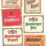 Gesellschaftsbrauerei Homberg verschiedene Bieretiketten