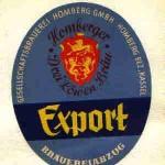 Gesellschaftsbrauerei Homberg Etikett Export