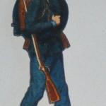 Soldat aus Papierbogen mit Papiersoldaten