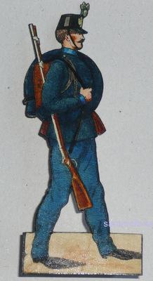 Soldat aus einer Gruppe von Papiersoldaten