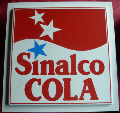 Sinalco Reklame aus Plastik