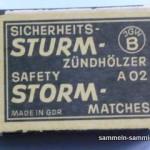Alte Etikette einer Streichholzschachtel