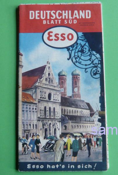 Esso Prospekt aus den 60er Jahren, Sammlerwert ca. 15 Euro, Ephemera