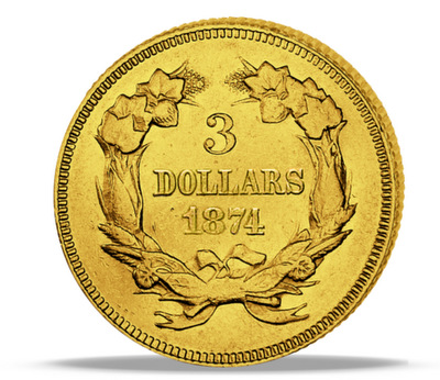 Historische Dollarmünze