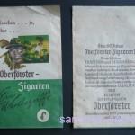 Verpackung für 5 Oberförster-Zigarren, 60er Jahre
