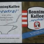 Werbeschildchen für Ronning Kaffee, 60er Jahre