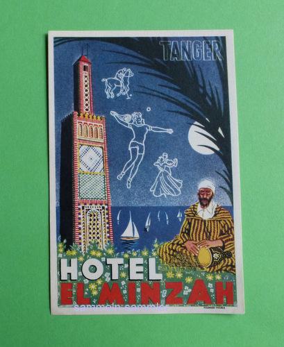Kofferaufkleber Hotel El Minzah Tanger