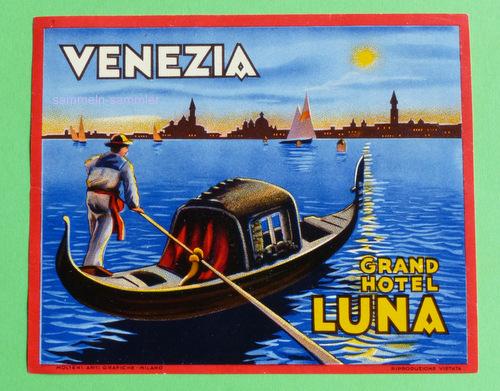 Aufkleber Grand Hotel Luna Venezia