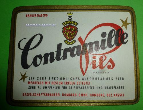 Bierflaschen-Aufkleber Contramille Pils