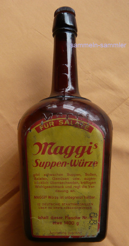 alte große Maggiflasche