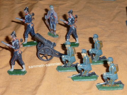 Soldaten mit Kanone