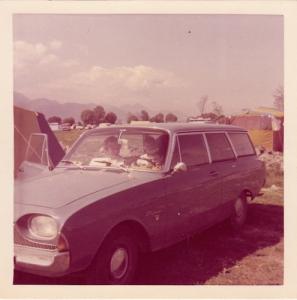 Mit dem Auto auf den Campingplatz